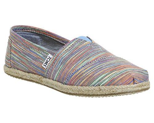 Toms Canvas Classics Alpargata, Pantofole a Collo Basso Donna Multicolore
