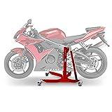 Motorrad Zentralständer ConStands Power Yamaha YZF-R6 03-05/ R6 S 06-07, Adapter+Rollen inkl. rot matt