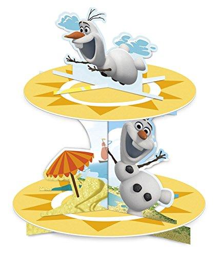 Procos 85981 Die Die Eiskönigin Cupcake Stand Olaf Summer (Frozen Cupcake Dekorationen)