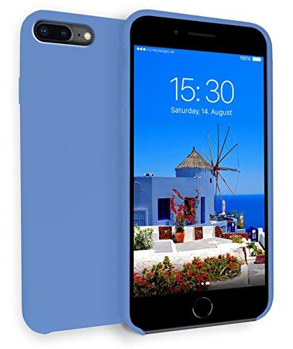 MyGadget Hardcase Hülle [Gummiert] für Apple iPhone 7+ / 8 Plus - Schutzhülle Case mit Soft Touch Silikon Finish - Back Cover Stoßfest in Matt Blau Soft-touch-gummi