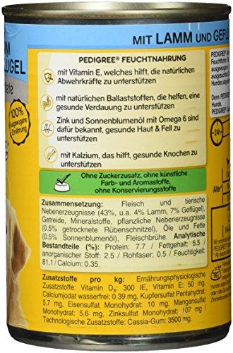 Pedigree Senior Hundefutter Lamm und Geflügel, 12 Dosen (12 x 400 g) - 4