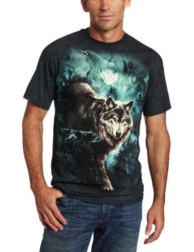 The Mountain Unisex Erwachsen Gr. XL Collage Woelfe in der Nacht T Shirt