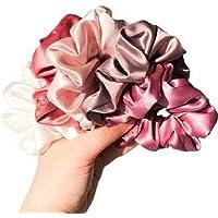 Trendy Satin Silk Scrunchies pack of 5