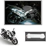 #6: Vheelocityin 10cm Neon Bike Light White - 1pc For Tvs Apache Rtr 160