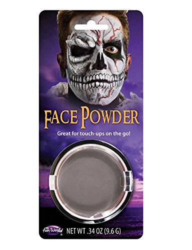 er Schminke Make-up Halloween Karneval Fasching Vampir Werwolf Zombie Totenkopf Frankenstein Puder, Farbe:Grau (Halloween-make-up Zu Kaufen)