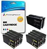 10 XXL Compatibili Cartucce d'inchiostro per Epson WorkForce Pro WP-4015 WP-4025 WP-4025DW WP-4095 WP-4500 WP-4515 WP-4525 WP-4525DNF WP-4535 WP-4535DWF WP-4545 WP-4545DTWF WP-4595 - Nero/Ciano/Magenta/Giallo, Alta Capacità