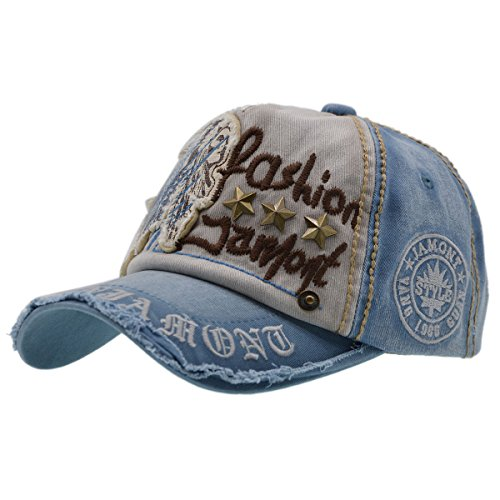 Baumwolle Baseball Cap, Basecap - iParaAiluRy Unisex Baseball Kappen, Baseball Mützen für Draussen, Sport oder auf Reisen - Letter Patch Nieten Lässig Kappe, Mütze 4t Jacke
