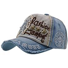 Cotone Cappello da Baseball - iParaAiluRy Regolabile Cappellini da Baseball per Ambientazione esterna, Sport, Viaggi - Lettera Patch Berretto per Uomini & Donne