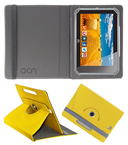 Acm Rotating 360° Leather Flip Case for Hcl Me 3g 2.0 Cover Stand Yellow  available at amazon for Rs.149