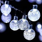 Solar Balls String Lights, EONANT 30 LEDs 6M Luci Impermeabili della Corda del Globo per il Giardino All'aperto Decorativo (Cold White)