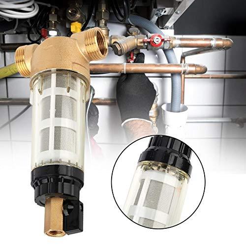 GTFHUH 0,1-0,8 Mpa Vorfilter Edelstahl 10-90 mikrometer Wasserfilter Hause Filterung Voller Kupferhahn Wasserhahn