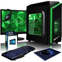 Vibox FX 45 Desktop PC da Gaming, Processore AMD FX 4300, 3.8 GHz, HDD da 1 TB, 8 GB di RAM, Scheda Grafica nVidia GeForce GTX 1050 Ti, Verde