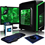 VIBOX FX-70 - Ordenador de sobremesa gaming (USB, Intel Core i5, RAM de 8 GB, disco duro de 1 TB, 3.0 GHz, Windows 10 Home) color verde