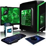 Vibox FX 74 Desktop PC da Gaming, Processore Intel i3 7100, 3.9 GHz, HDD da 1 TB, 8 GB di RAM, Scheda Grafica nVidia GeForce GTX 1050, Verde