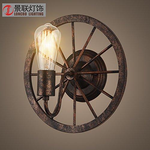 WandunCorridoio Industriale Retrò Creativo La Lampada Da Parete Di Corridoio Ruota