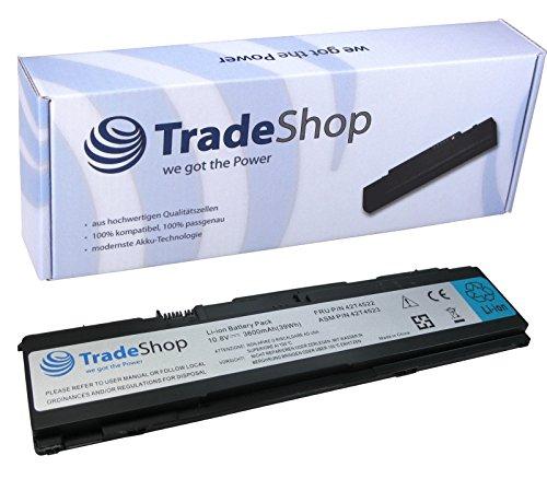 Trade-Shop Premium Li-Ion Akku, 10,8/11,1V/3600mAh ersetzt IBM Lenovo ThinkPad 42T4518 42T4519 42T4522 42T4523 42T4533 43R1965 43R1967 42T4641 42T4643 für X301 2774 2776 2777 2778 2779 4057 4182 (Notebook 4182)