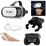 "ALDIVO® VR Box With Remote Controller 3D | Virtual Reality Headset Version 2.0 . 3D Glasses Adjust Cardboard Vr Box For 3.5~6.0"" Mobiles"