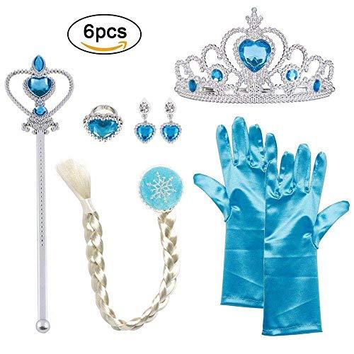 Vicloon Conjunto con Accesorios de Princesa del Hielo para Niña de 2-