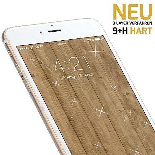 GLAZ Original Liquid 2.0® Flüssigglas Displayschutz für dein iPhone 8 Plus Panzerglas | Schutzfolie | geht über den Rand des Displays | 9+H Härtegrad