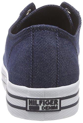 Hilfiger Denim L1385yon 8d, Baskets Basses femme Bleu - Bleu nuit (403)