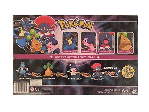 Image of Pokemon Diamond And Pearl 5 Figure Keyring Set, Pokemon Collectors Edition Box Set with Bonus Pokemon and Pokeball Inside