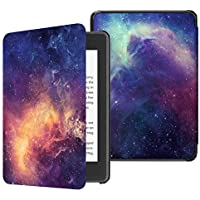 Fintie Slimshell Case for Kindle Paperwhite (10th Generation, 2018 Release) - Premium Lightweight PU Leather Cover with Auto Sleep/Wake for Amazon Kindle Paperwhite E-Reader, Galaxy