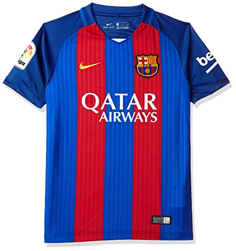 Get the new sponsored version of the FCB kit!Brand new, official Barcelona Kids Home shirt for the 2016 2017 La Liga season. This authentic football kit is available in junior sizes small boys, medium boys, large boys, XL boys and is manufactured by ...