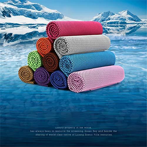 Color Neck Cooler Eistuch, Seidig weiches kühles Handtuch - im Sommer fühlen Sie Sich kühler und wohler 30 * 100cm (Orange) ()