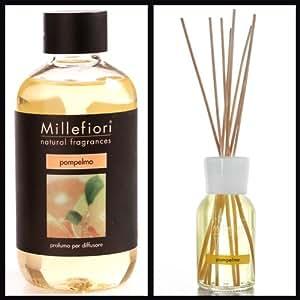 Millefiori Milano Ensemble diffuseur de parfum d'ambiance avec recharge Parfum pamplemousse