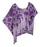 Mia Suri Damen Bluse Gr. 46, violett