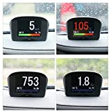 AUTOOL Car OBDII Head Up Display OBD2 HUD Digital KMH/MPH...