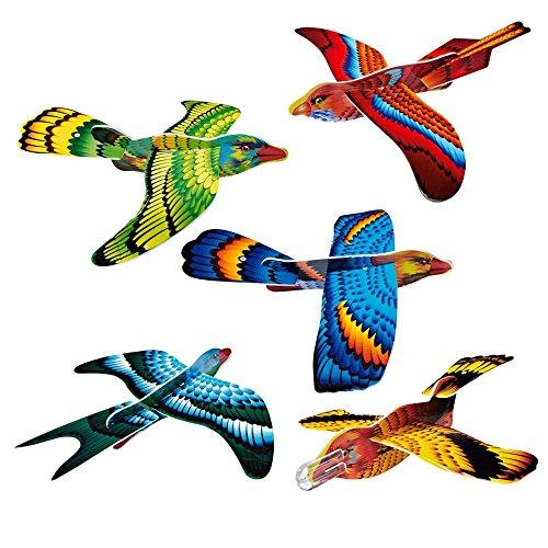 Gleitflieger Paradiesvogel Styropor bunt 36 Stück