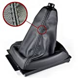 Schaltsack Echt Leder schwarz N211