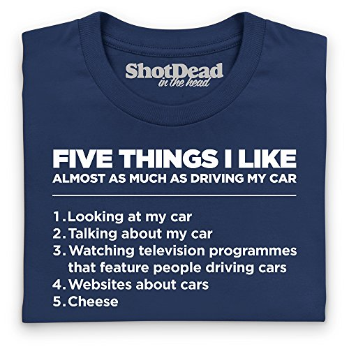 Five Things I Like - Cars Langarmshirt, Herren Dunkelblau