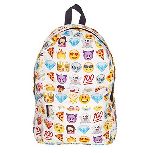 """Unisex bloger-Old School Daypack bloger Retro zaino Vintage zaino zaino ragazza Hipster Bag Fullprint """"molti colori EMOJI taglia unica"""