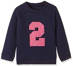 United Colors of Benetton Girls Sweatshirt (16A3QT6C12AJIK25XX_Royal Blue)