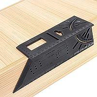 Herramienta alicates 0-170mm plástico ABS Tratamiento de la madera T Regla 45 a 90 grados de ángulo Regla multifuncional Marcado Transportador Gauge Herramientas de Medición Tratamiento de la madera