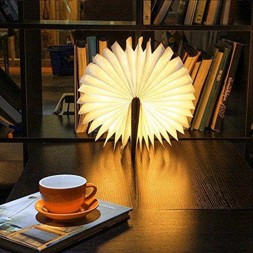 Faltbare-LED-Stimmungsbeleuchtung-von-Colleer-LED-Lampe-mit-Multi-Farben-vier-Farben-in-einem-Buch-mit-Drucken-auszuwhlen-LED-Stimmungslicht-Wiederaufladbar-2000mAh-von-PU-Leder-Papier-ideal-als-Buchl