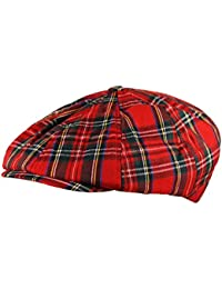05e813d5e10 Itzu Baker Boy Newsboy Flat Cap Hat Jute Tartan Herringbone Gatsby 8 Panel