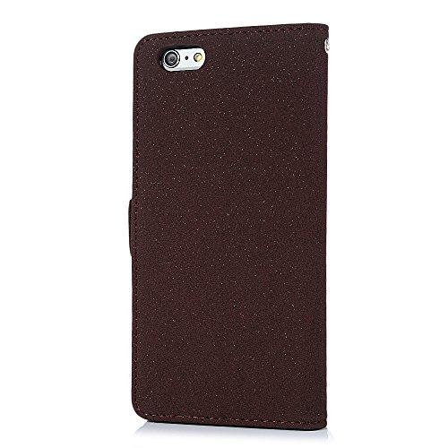 iPhone 6 Plus/6s Plus Hülle Mavis's Diary Tasche Flip Cover PU Ledertasche Magnetverschluss Schutzhülle Case Telefon-Kasten Handyhülle Standfunktion Euit Fall Traumfänger Schokolade