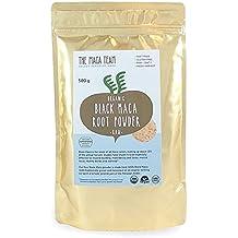 Maca Negra en polvo cruda BIO, 500 gr. Cosecha orgánica certificada de Perú, comercio Justo, sin OGM, sin Gluten y Vegana, 50 dosis.