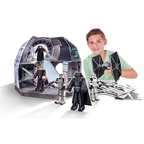 Jazwares Star Wars Set de Figuras Papercraft Classic Death Star Deluxe Pack 1