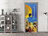 GRAZDesign 791581_67x213 Tür-Bild Spruch Meeresrauschen | Aufkleber für Wohnzimmer/Bad | Türfolie Selbstklebend (67x213cm//Cuttermesser)