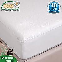 Tofern Protège Matelas Alèse Bambou 100% Imperméable Anti-acariens Antibactérien Respirant Ultra Doux Silencieux Résistant aux Lavages Forme Drap Housse 140x190/200