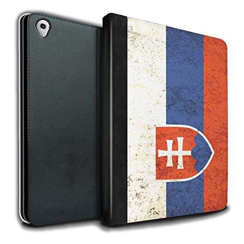 Stuff4® PU-Leder Hülle/Case/Brieftasche für Apple iPad Pro 9.7 Tablet/Slowakei/Slowakisch Muster/Flagge Kollektion