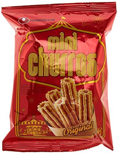 Preisvergleich Produktbild Nong Shim Churros Snack – Mini Churros wie das spanische Original mit Zimtnote - süßer Snack für zwischendurch – 5er Vorteilspack à 70g