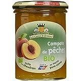 Les Comtes de Provence Compote de Pêches Bio 420 g - Lot de 3