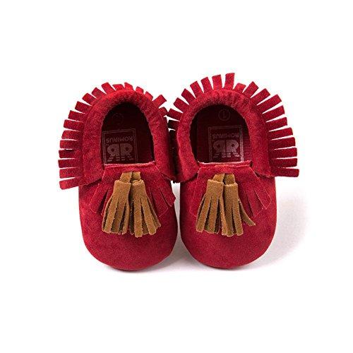BOBORA Bambino ragazze ragazzi pu mocassino Suola morbida scarpe piatte nappe presepe scarpe precamminatore D