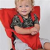 Pueri Arnés para bebés, para colocar en sillas altas, con correas, ideal para llevar de viaje y sentar al bebé con seguridad en una silla alta rojo rosso