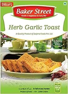 Baker Street Herb & Garlic Bread Toast Rusk 200 Gms